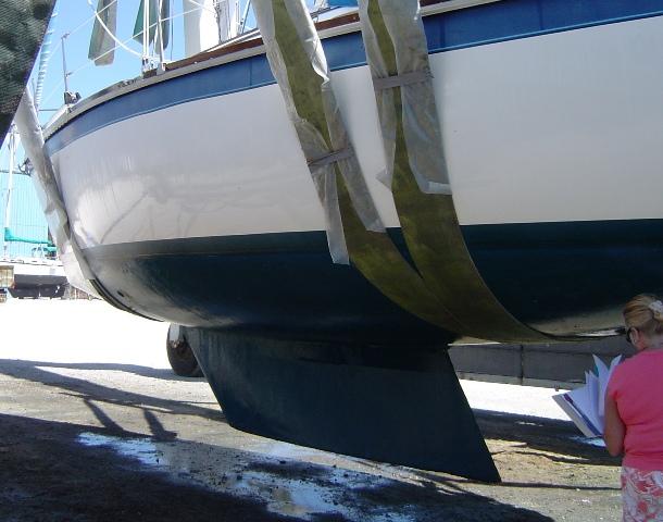 Hunter 34 Sailboat Shoal Fin Keel