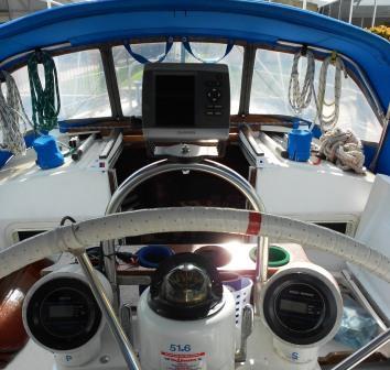 Garmin 441 GPS Chartplotter Hunter 34 Sailboat Binnacle Nautical Boat