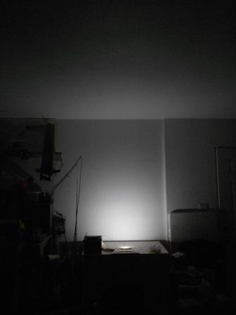 LED SMD Festoon Light Test in Dark Room