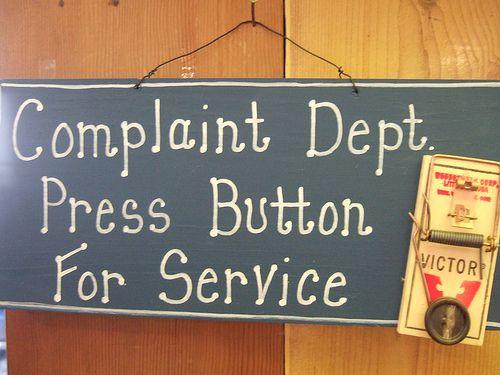 Complaint Complain Complaining