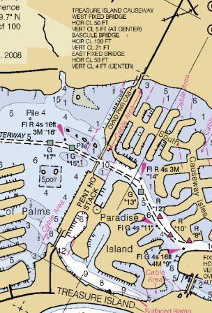 Treasure Island Florida Causeway Nautical Chart