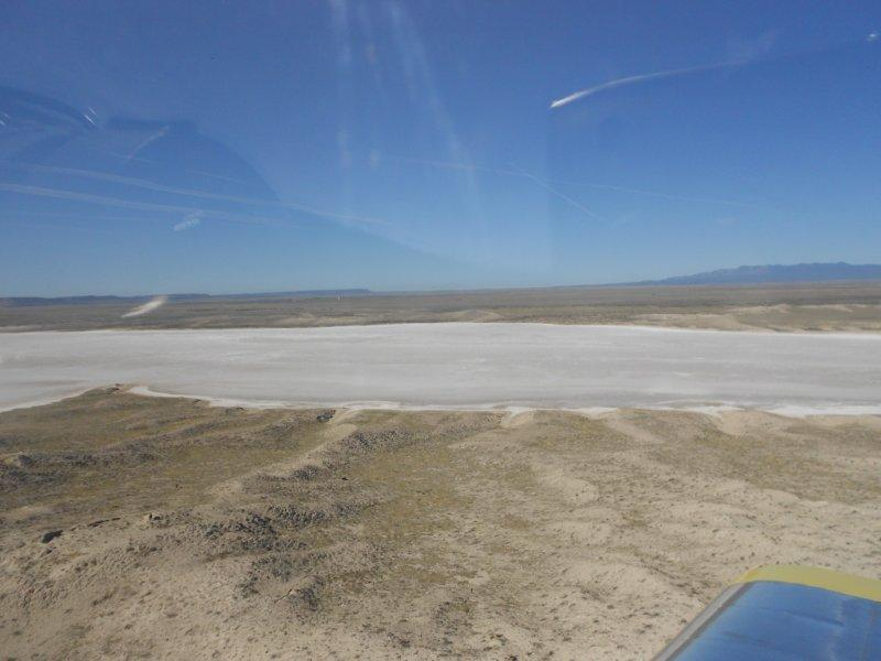 Dry Lake Bed Playa Salt Flat