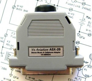 VX Aviation ASX-2B Stereo Music Headset Adapter