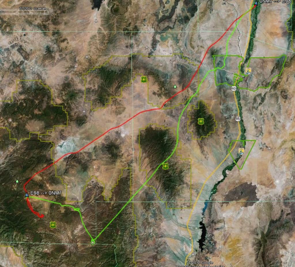 Google Earth GPS Track Negrito New Mexico Flying