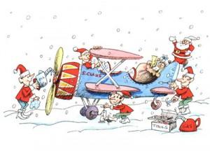 Aviators Night Before Christmas Airplane Aircraft