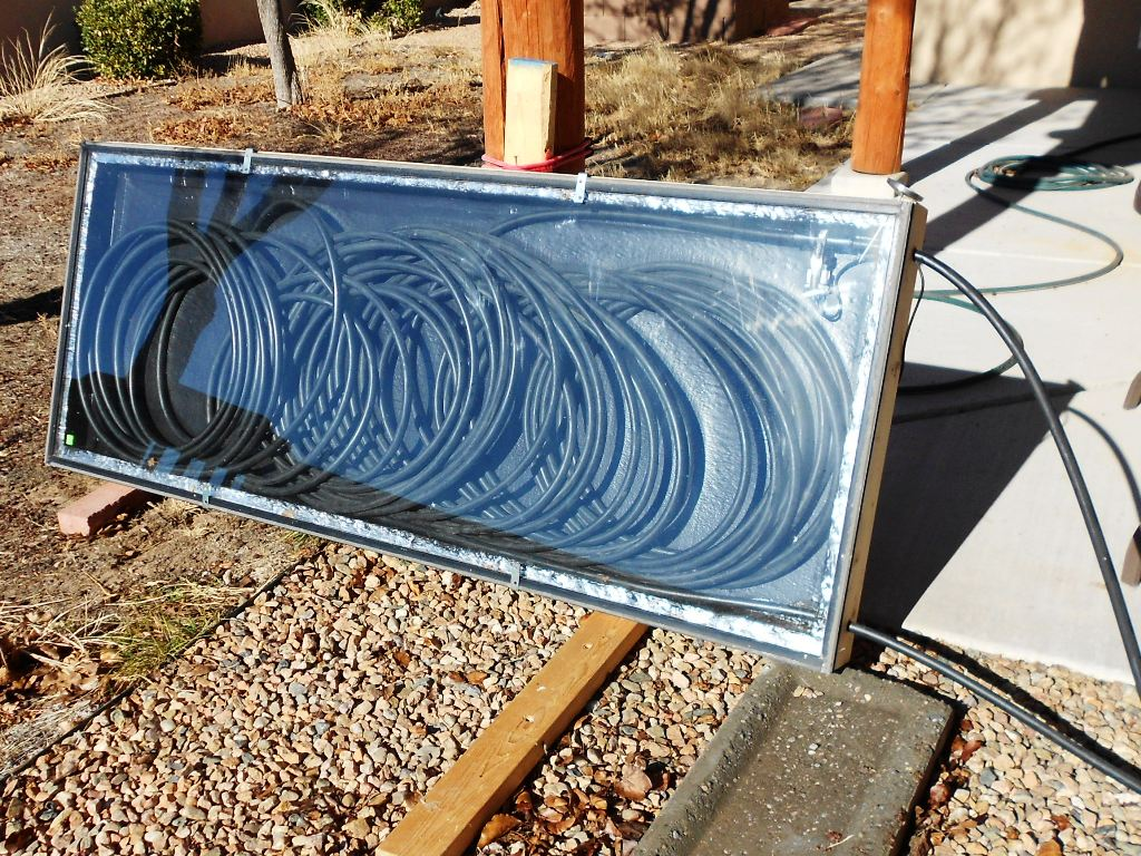 solar hot water collector tub pex tubing sun