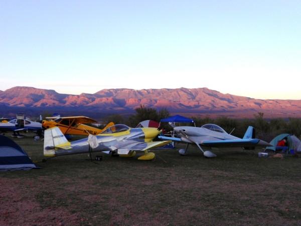 Arizona Camping Grapevine Backcountry Airstrip aircraft