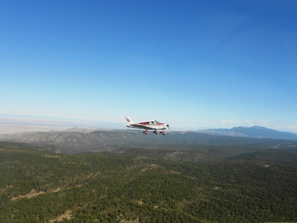 Piper Cherokee Aircraft Sandia Mountains