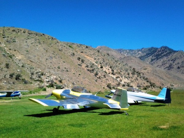 Aircraft Flying B Ranch RV-3 Backcountry Airstrip
