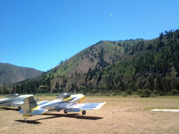 Aircraft Flying RV-3 Backcountry Airstrip Thomas Creek
