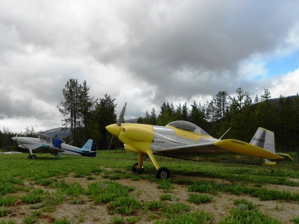 RV-3 Aircraft Exploring Idaho Backcountry Airstrip