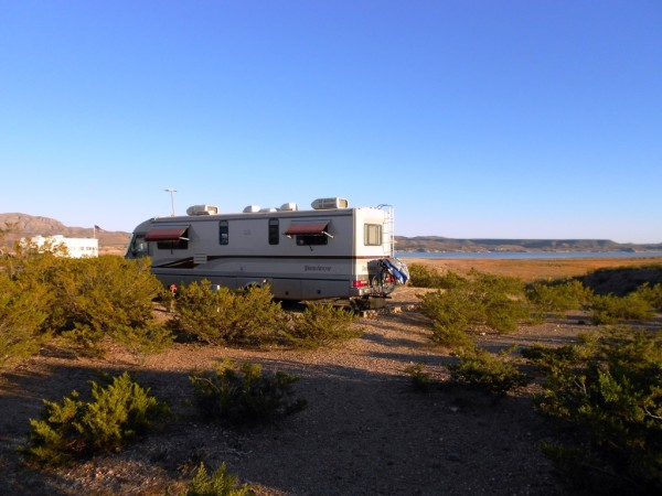 RV Motorhome Camping Elephant Butte Lake