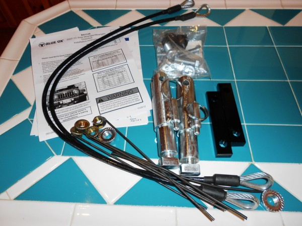 Jeep Wrangler Tow Blue Ox Base Plate Hardware