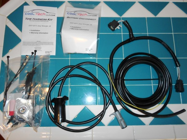 CoolTech Wiring Harness Deluxe Kit Tow Jeep Wrangler