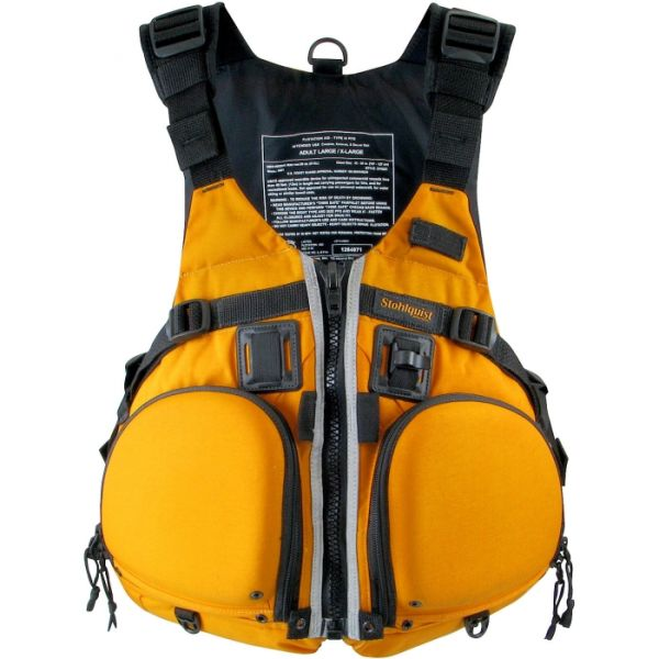 Stohlquist Kayak PFD Life Jacket Fisherman