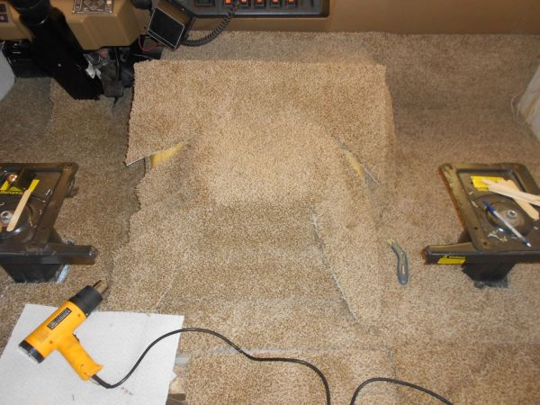 RV Motorhome Carpet Install Replace Doghouse Cockpit
