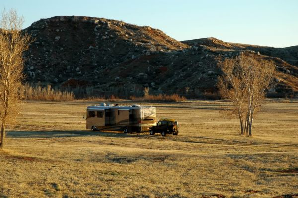 Newmar Dutch Star Lake Meredith TX Boondock Solar