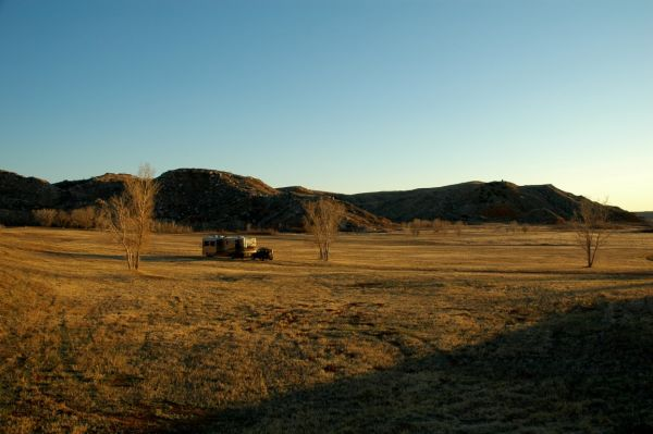 Lake Meredith Texas Newmar Dutch Star fulltime RV boondocking solar