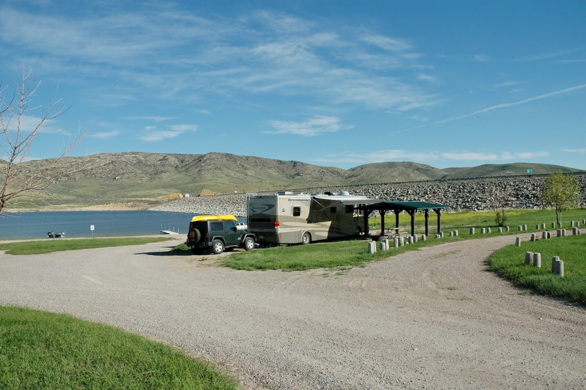Newmar Dutch Star Clark Canyon Reservoir campground Dillon Montana