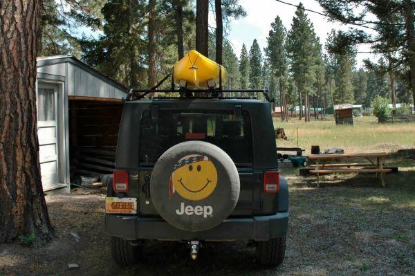 Jeep Wrangler JK Necky Yakima Kayak Rack Roof