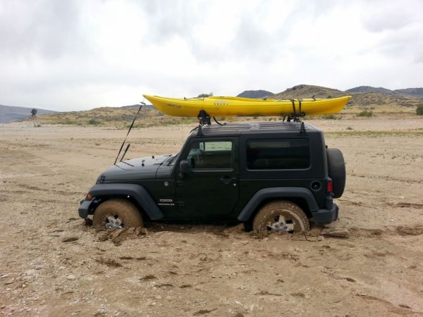 Jeep Wrangler Stuck Necky Kayak Yakima Rack