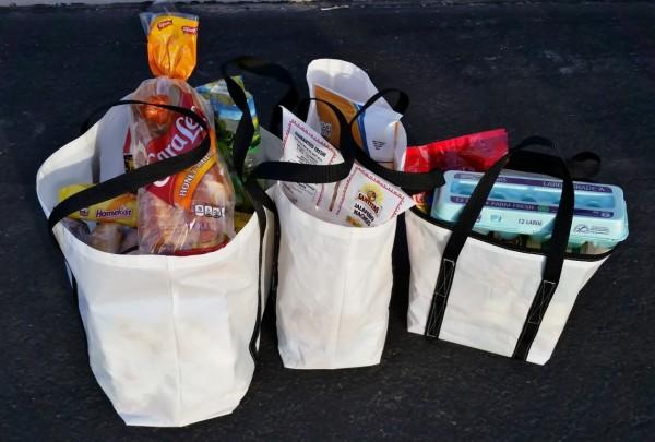 DIY Tote Bag Dacron Sailcloth Sailrite groceries