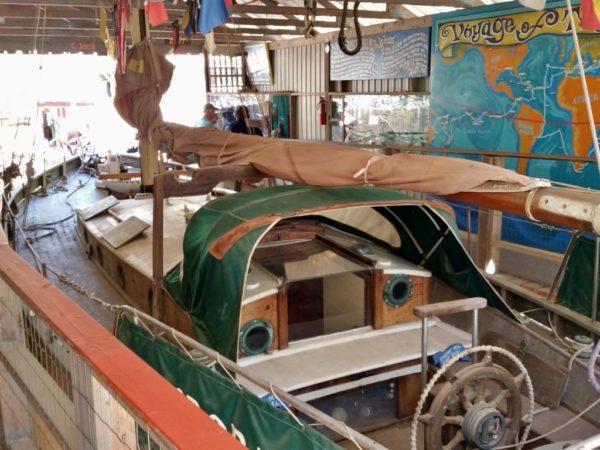 Theodora R wood sailboat ten years mast fritz damler tinkertown