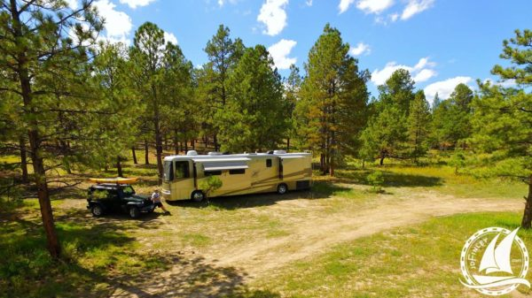 Newmar Dutch Star Carson National Forest Boondocking RV motorhome camping
