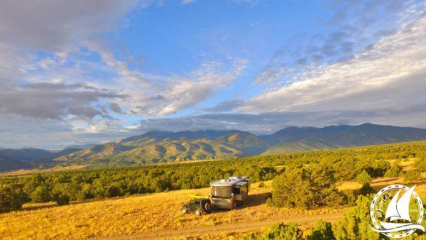 Newmar Dutch Star Boondocking Camping Solar RV Coach Mountains Colorado