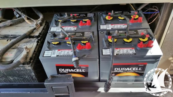 Newmar Dutch Star house batteries battery bank cables rust tray