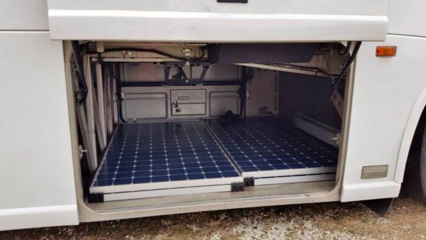 MCI 102 EL3 bus conversion solar panel sunpower 435 watt next