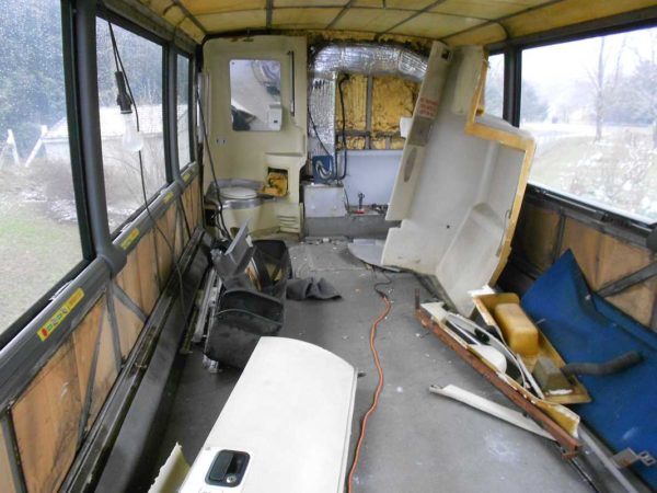 Missy MCI 102 EL3 conversion stripping interior