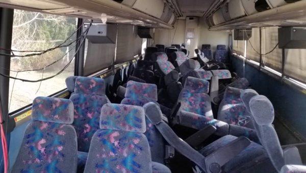 MCI 102 EL3 bus conversion seats