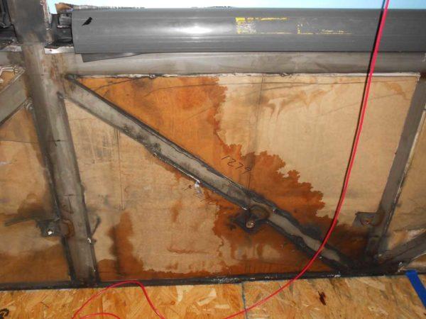 Missy 1998 MCI 102-EL3 coach water leaks sealant flood