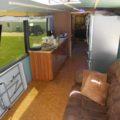 Laminate flooring cork plank Missy bus conversion floating macadamia nut heritage mill