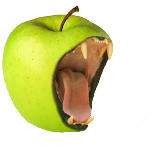 Evil Green Apple Allergy Allergic Pain back