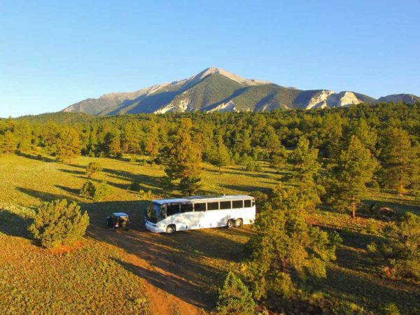 Gunnison National Forest Colorado Mountains Missy Boondocking bus conversion