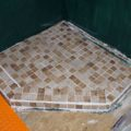 Missy bus conversion coach shower floor tile