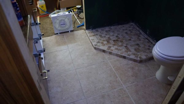 Missy Tile Floor Bathroom Shower Schluter Ditra heated floor