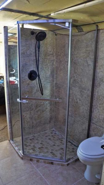 Missy Shower Bathroom Glass Tile