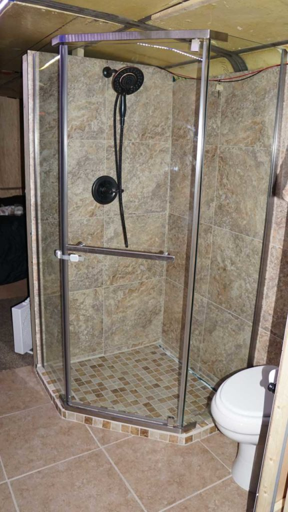 Missy Shower Bathroom Glass Tile Delta Porter In2ition Faucet Oil Rubbed Bronze