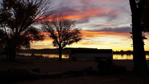 Missy sunrise lake state recreation area MCI bus conversion