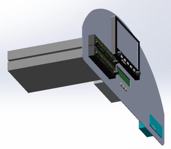 SolidWorks Vans RV-4 Instrument Panel 3D water jet