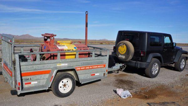 Bowser fuel trailer